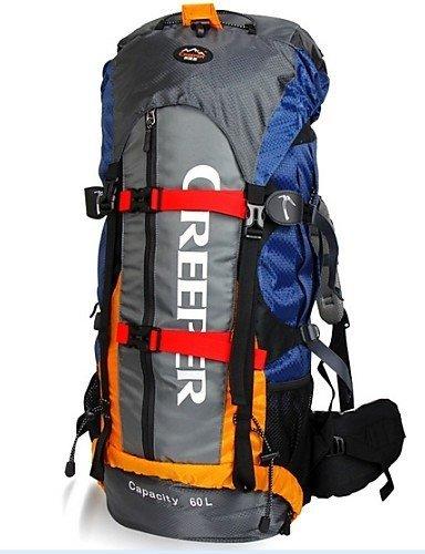 KOE Tourenrucks?cke / Wandern Tagesrucks?cke / Radfahren Rucksack ( Blau , 60 L) Wasserdicht / Wasserdichter Verschlu? / Reflexstreifen /