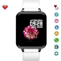 Reloj Inteligente Deportivo con Pantalla Táctil, Pulsera Inteligente Impermeable con Modo Deportivo Profesional, Monitor de Presión Sanguínea, Oxígeno Sanguínea, Frecuencia Cardíaca y Caloria