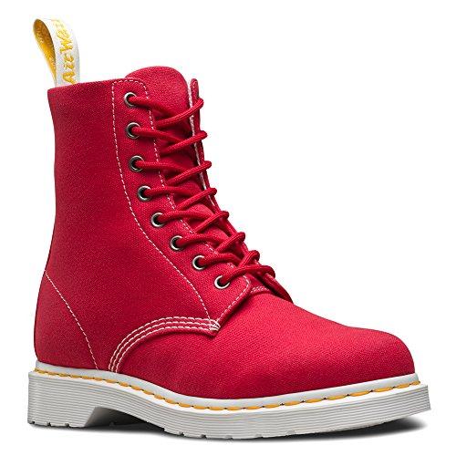 Page Femme Chaussures Dr True Martens Canvas Bateau Black Red UcqC5CwY