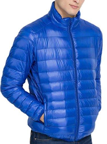 XL Jackets Mens Stand Collar Down royal Packable Lightweight EKU blue W0ZqRSBq