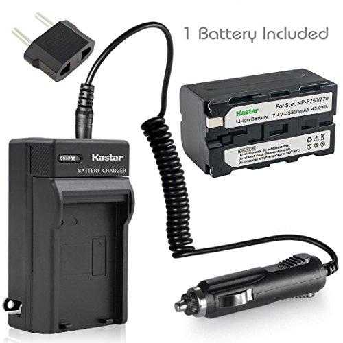 Kastar Battery (1-Pack) and Charger Kit for Sony NP-F770 NP-F750 and CCD-RV100 CCD-RV200 CCD-SC9 CCD-TR1 CCD-TR940 CCD-TR917 Camera CN-126 CN-160 CN-216 CN-304 YN 300 VL600 LED Video Light by Kastar
