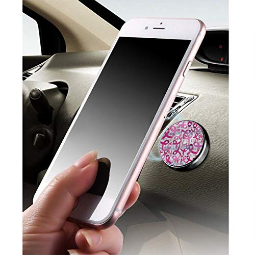 - Magnetic Phone Holder Mount for Car,Pink Breast Cancer Logo Dashboard Holder Flat Dash in Car Mobile Phone