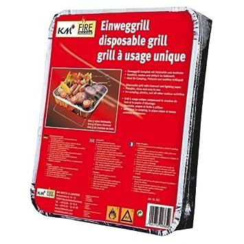 2 paquetes desechables barbacoas con 450 g Carbón Picnic Grill art. 365