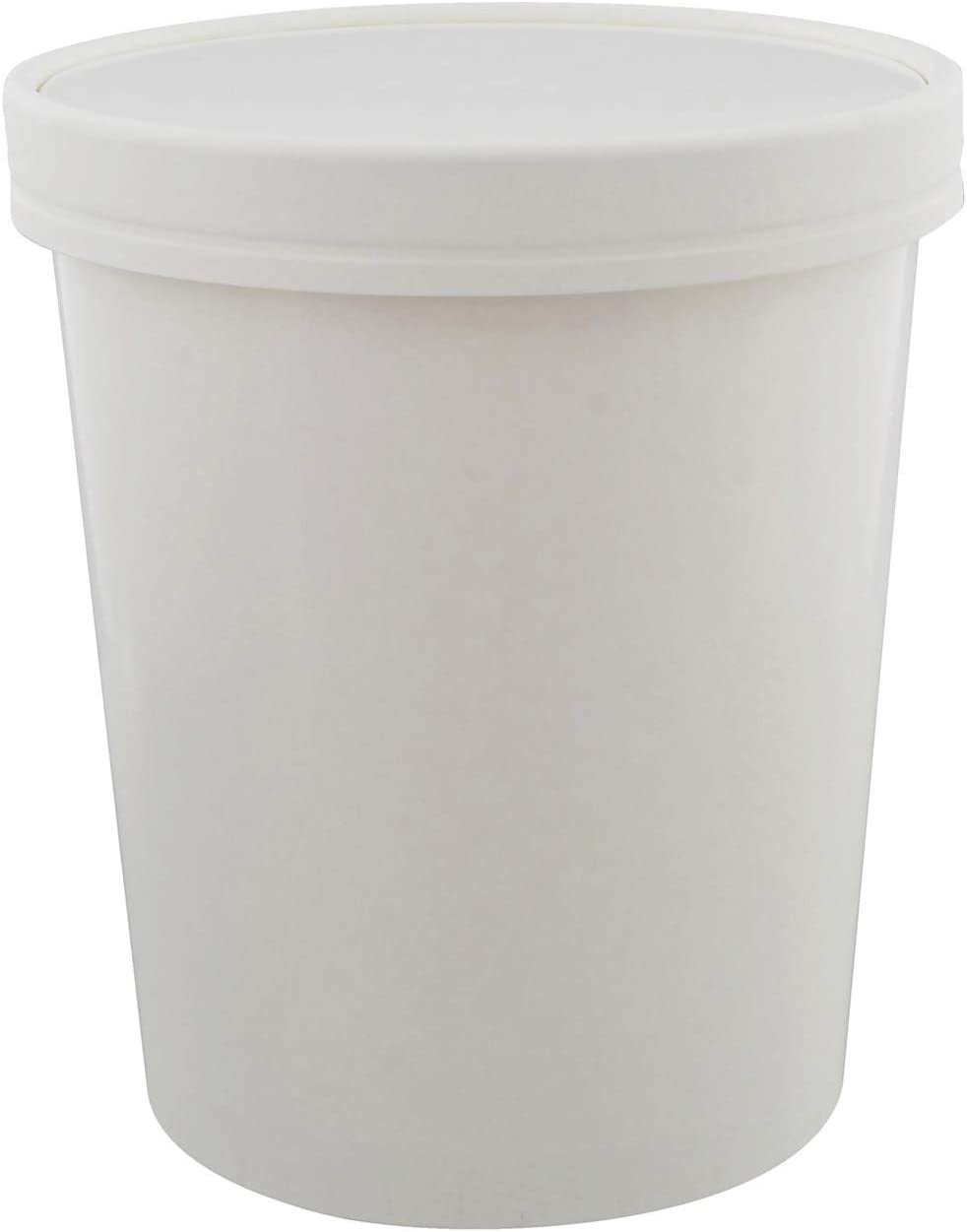 Spec101 Ice Cream Tubs with Lids - 32 Ounce Ice Cream Containers, Homemade Ice Cream Storage Containers, 50 Pack
