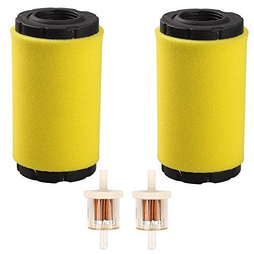 Hilom Pack of 2 793569 793685 Air Filter/Pre Filter with Fuel Filter for Briggs & Stratton Intek 20-21 Gross HP John Deere MIU11511 GY21055 LA125 LA115 D100 D120 D110 L100 Lawn Mower Tractor