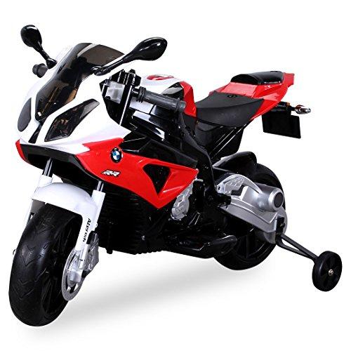 Kinder Elektromotorrad Kindermotorrad Lizenziert BMW S 1000 RR Elektro Kinderfahrzeug (rot)