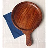 Onlineshoppee® Sheesham Wood Pizza Plate Or Board Or Racket Round