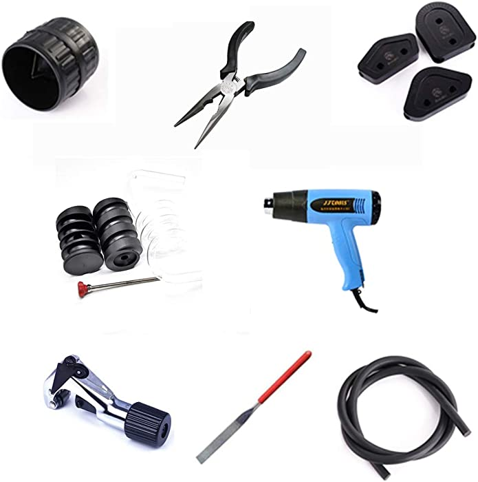 Bykski Tools Kit Set for Water Cooling Rigid PETG Tubing Cut System Mandrels Heat Gun Saw File (watercooler Tools Set)
