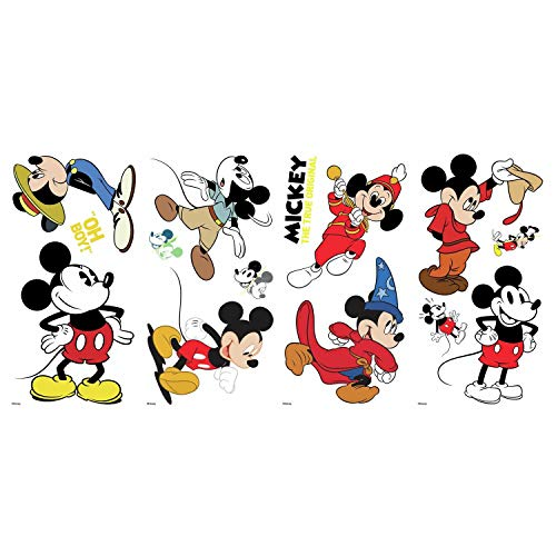 RoomMates Mickey Mouse The True Original 90Th Anniversary Peel And Stick Wall -