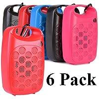 6 Pack Vivitar Infinite VBT1000 Bluetooth Wireless Rechargeable Clip On Speaker