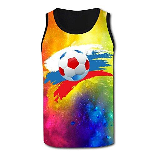Brniogn Men's Tank Tops 2018 World Cup Russia Soccer 3D Gym Vest Sleeveless (11h Sign)
