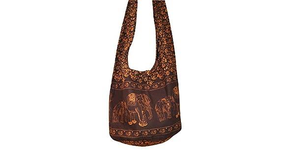Amazon.com: Hippie elefante Sling Crossbody Bolsa Bolsa de ...