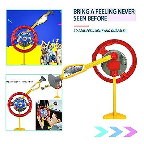 Kinder spielen Spielzeug Lustige elektronische R/ücksitz Fahrer Autositz Lenkrad Kinder Kinder fahren Spielzeug-Multi-Color