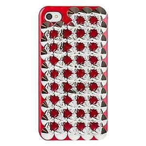 comprar Punk Caja roja del ornamento del remache para el iPhone 4/4S