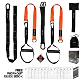 Vulken Suspension Trainer, CoreSlings Basic Home Suspension Training Kit Full Body Workouts for Your Home Gym, Travel, and Outdoors, Lightweight & Portable Core Workout Fitness Tools Including Workout