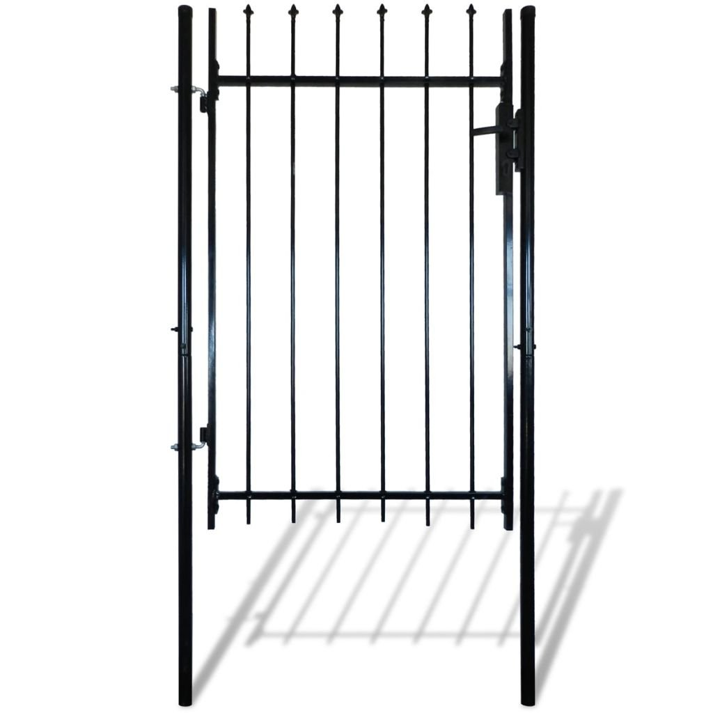 vidaXL Single Swing Garden Gate Entry Door Fence Steel Gate w/Spear Top 39''W x 67''H by vidaXL (Image #3)