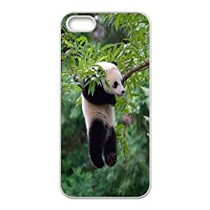 Case For Sam Sung Galaxy S4 Mini Cover Case, Panda Hanging with Relax Hard Case For Sam Sung Galaxy S4 Mini Cover (White)