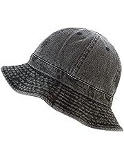 The Hat Depot 100% Cotton Long Brim and Deeper Beanie & Tennis Packable Summer Fashion Bucket Hat