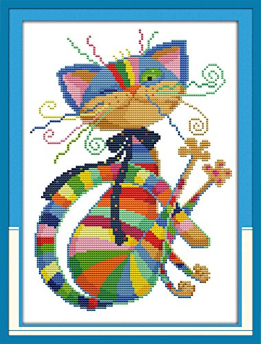 eGoodn Stamped Cross Stitch Kits Printed Pattern - Colorful