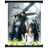 """Crisis Core Final Fantasy 7 Game Fabric Wall Scroll Poster (32""""x46"""") Inches"""