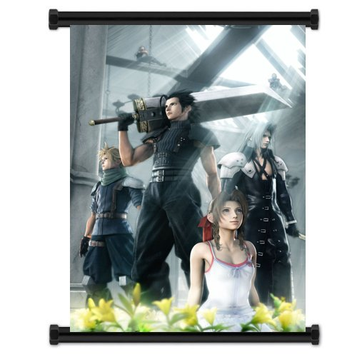 1 X Crisis Core Final Fantasy VII Game Fabric Wall Scroll Po