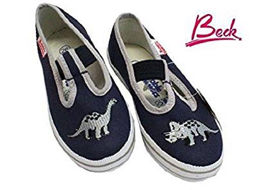 Beck Dino Dunkelblau - Zapatillas para deportes de interior para niño Azul