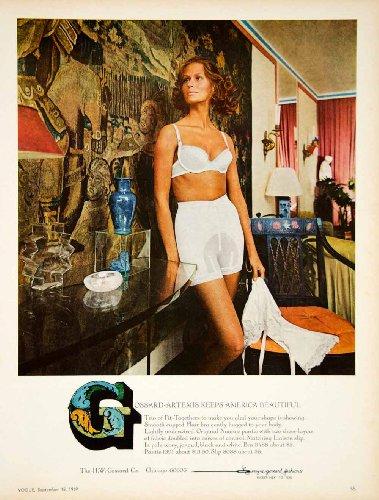 1969 Ad Vintage Grossard Artemis Lingerie Bra Brassiere Panty Girdle Slip Risque - Original Print Ad