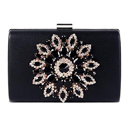 embrague black 5 diamante one x fiesta nupcial Bag cm size boda 5 dama de Wgwioo noche red bolso paseo caja bolso 17 11 6w4qxngwBI