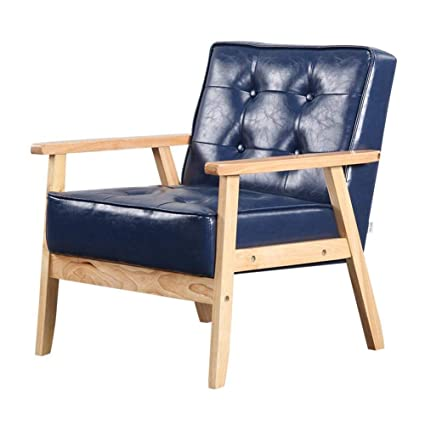 buying cheap new arrive fashion style Amazon.com: QQXX CJC Chairs Solid Wood, Oil Wax Leather ...