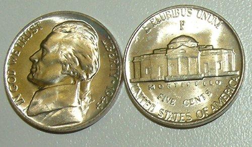1944-P Jefferson Silver War Nickel Gem Bu
