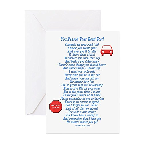 Cards Note Driver - CafePress You Passed Road Test Greeting Card, Note Card, Birthday Card, Blank Inside Matte