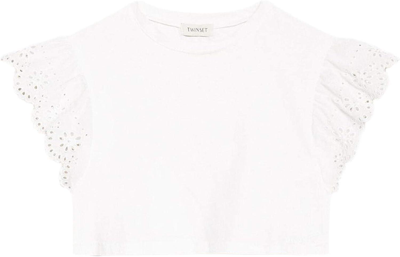 Twin-set Simona Barbieri - Camiseta para niña con bordado ...