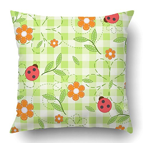 Hood Curve Decorative (Emvency Throw Pillow Covers Plaid Green Baby Child Fun Checked Checkered Cheerful Chequered Childhood Polyester 18 X 18 Inch Square Hidden Zipper Decorative Pillowcase)