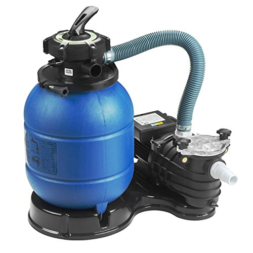 SUNCOO Pro 2450GPH Sand Filter Pump 13 inch Tank Pool Pump for 10000GAL Above Ground Swimming Pools w/Pressure Gauge, Sand Pool Filters System (Above Ground Pool Sand Filter Low Pressure)