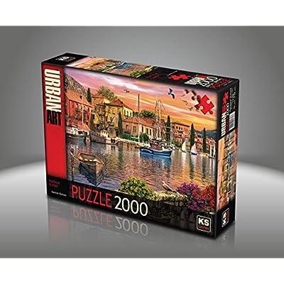 Sk Jigsaw Puzzle 2000 Pieces Dominic Davison Harbour Sunset