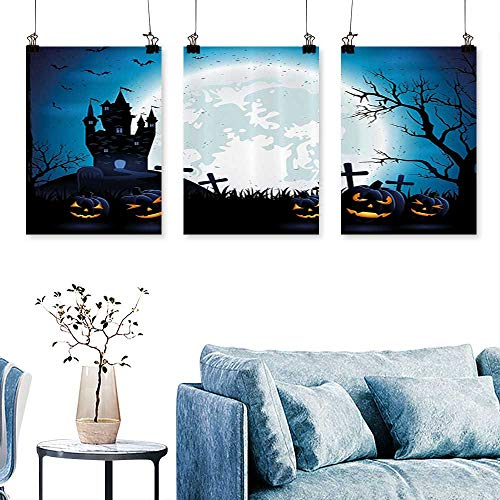 SCOCICI1588 3-Piece Home Decoration Spooky Ccept with Halloween ICS Old Celtic Harvest Festival Figures for Home Modern Decoration No Frame 24 INCH X 40 INCH X -