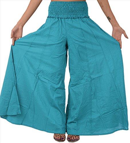 Lunghi In Palazzo Puro Sns Pantaloni Blue Cotone 2 qCza4E4xfn