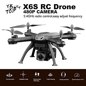JICHUI X6S RC Aviones no tripulados de 4 Canales WiFi FPV Drone ...