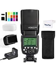Godox V860II-C Camera Flash Speedlite HSS GN60 2.4G Wireless + 2000mAh Lithium-ion Battery Compatible with Canon EOS Cameras 6D 7D 50D 60D 500D 550D 600D 650D