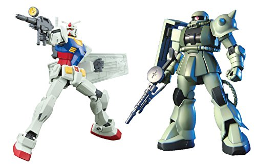 2-Bandai-Hobby-Gundam-Assembly-Models--HGUC-RX-78-2-Gundam-Revive-and-HGUC-MS-06-Zaku-II--Bundled-Set-Japan-Import
