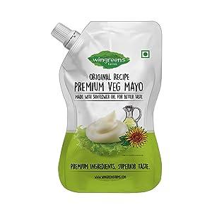 Wingreens Farms Premium Vegan Mayo, 800g eggless mayonnaise