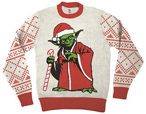 Yoda Dressed As Santa Off-White Ugly Christmas Sweater