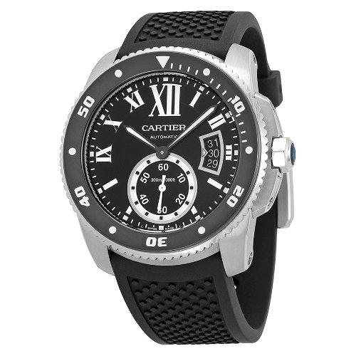 Cartier Men's W7100056 Analog Display Swiss Automatic Black Watch - 51F7qoIG0oL - Cartier Men's W7100056 Analog Display Swiss Automatic Black Watch