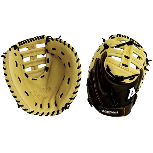 Akadema Praying Mantis Pattern Double T-Web Mittens with Deep Pocket Designed for Softball Catcher, 33