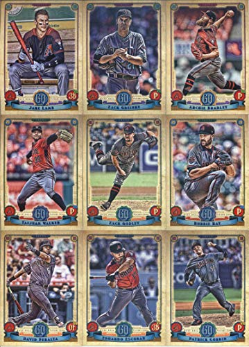 2019 Gypsy Queen Baseball Arizona Diamondbacks Team Set of 9 Cards: Archie Bradley(#42), Zack Greinke(#62), Jake Lamb(#67), Taijuan Walker(#87), Robbie Ray(#162), Zack Godley(#177), David Peralta(#214), Patrick Corbin(#279), Eduardo ()