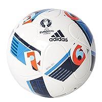 adidas Herren Ball EURO 2016 Junior 290, White/Bright Blue/Night Indigo, 5,...