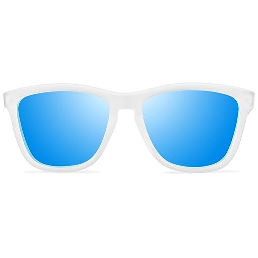 772f8039988f VOOGLERS® SUNGLASSES UNIQUE IBIZA DANCE POLARIZED UV400 BLUE LENS WHITE  FRAME: Amazon.co.uk: Clothing