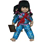 Amazing Grace Elephant Co. Baby and Big Sister Li Chinese Traditonal Passport Doll