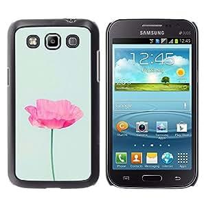 iKiki Tech / Estuche rígido - Flower Pink Blue Spring Nature - Samsung Galaxy Win I8550 I8552 Grand Quattro