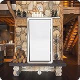 Rikki Knight 8917 Single Rocker Rustic Fireplace Design Light Switch Plate